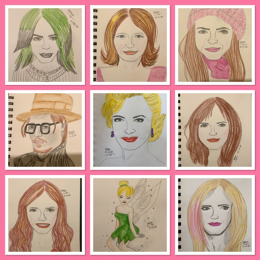 Avril Lavigne, Tinker Bell, Rachel Boston, Alexis Bledel, Marilyn Monroe, Johnny Depp, Shakira, Billie Eilish par dasee